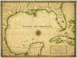 map of the gulf of mexico gulf of mexico map c 1927 14 x 19 map