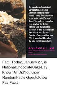 german chocolate cake isn u0027t german at all in 1852 an american