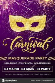 mardi gras masquerade masquerade party poster mardi gras golden mask carnival stock