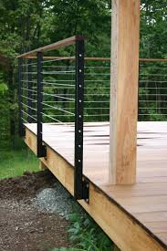 Deck Ideas For Backyard by Ideas Wood Decks And Cable Deck Railings For Top Modern Decks
