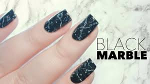 black stone marble nails in one minute youtube