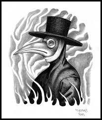 plague doctor tattoo design by mooninthescorpio on deviantart