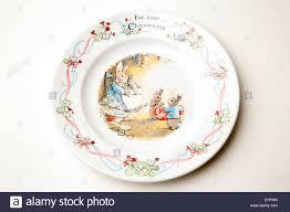 rabbit wedgwood wedgwood rabbit nursery plate stock photo royalty free