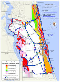 St Augustine Map Evacuation Route St Augustine Beach Florida