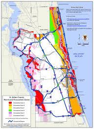 Map Of St Augustine Fl Evacuation Route St Augustine Beach Florida