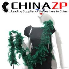 turkey feather boa leading supplier chinazp crafts factory 2yards40g peacock green