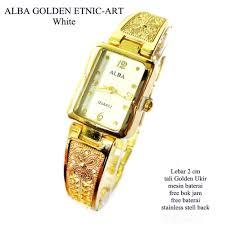 Jam Tangan Alba Emas jual jam tangan wanita alba golden ethnic branded gold emas white