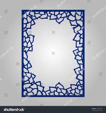 abstract cutout panel laser cutting vector stock vector 426899908