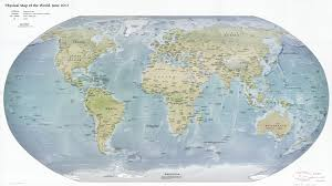 Physical Map Of Australia Large Scale Political And Physical Map Of The World 2012 World