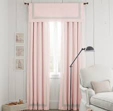 Petal Pink Curtains Pink Appliquéd Frame Cotton Canvas Drapery Panel