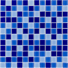 Blue Tile Bathroom by Shop Elida Ceramica Blue Multicolor Uniform Squares Mosaic Glass