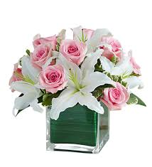 white lillies pink roses and white lilies scent violet flowers and gifts