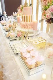 pink and gold cake table decor pink gold princess party princess party
