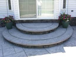 patio ideas diy cement patio ideas backyard stamped concrete