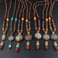 round plate necklace images Vintage round plate pendant ethnic necklace jpg