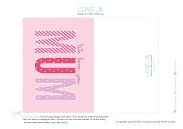 free mother u0027s day card printables love jk