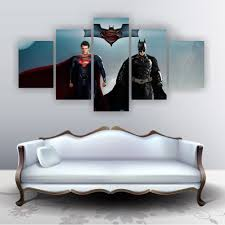 high quality spiderman painting buy cheap spiderman painting lots superman vs extraordinary spiderman 5 pieces modern wall art painting decorative picture for home decor panel