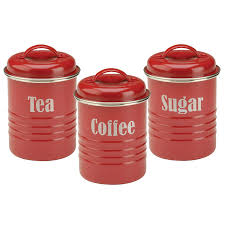 Retro Kitchen Canisters by Amazon Com Typhoon Vintage Kitchen Tea Coffee Sugar Canisters