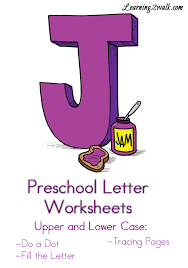 preschool letter j worksheets