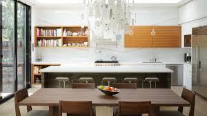 kitchen kitchen island modern open refrigerator white modern