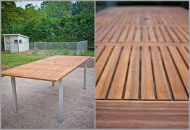 Outdoor Dining Area With No Chairs Ikea Ransby Outdoor Extending Dining Table And Chairs