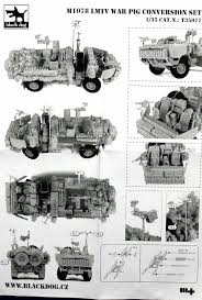 m1078 lmtv war pig conversion set for trumpeter black dog t35077