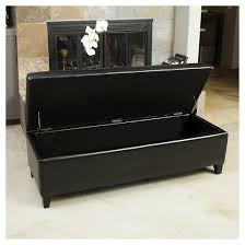 Leather Storage Ottoman Bench Selma Faux Leather Storage Ottoman Bench Black Christopher