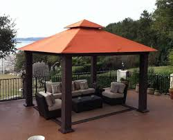 Backyard Canopy Ideas Decorations Magnificent Outdoor Patio Canopy Idea With Seating