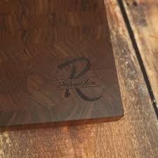 large walnut personalized end grain cutting board custom walnut