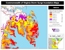 Zip Code Map Richmond Va by Hurricane Storm Surge Maps Virginia Department Of Emergency