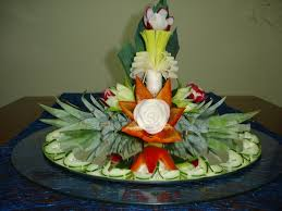 how to make a decoration for centerpiece art with fruit and