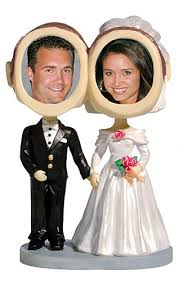 cake toppers bobblehead custom wedding bobbleheads and cake toppers