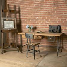 Rustic Home Office Desk Rustic Home Office Desks Reclaimed Wood Desk Top With White