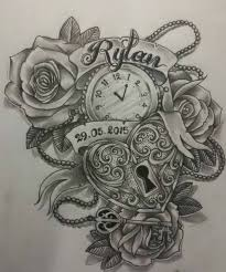 clock amazing clock tattoo clock tattoo design melting clock
