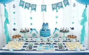 baby showers awesome looked in blue theme combined to white with gorgeous design