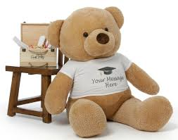 personalized graduation teddy 4ft personalized graduation teddy gifts in 6 color choices
