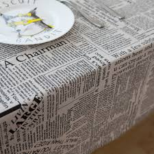 english newspaper pattern nostalgic english newspaper pattern linen and cotton table cloths
