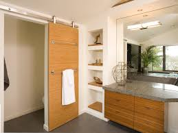 Built In Shelves In Bathroom Sliding Door Ideas Bathroom Contemporary With Bamboo Built In