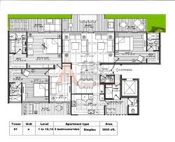 3 Bhk Apartment Floor Plan by 3 Bhk M3m Golf Estate Floor Plan Archives Floorplan In