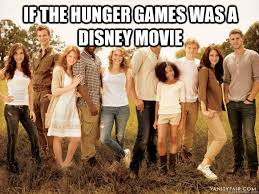 Funny Hunger Games Meme - if the hunger games was a disney movie hunger games quickmeme