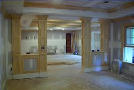 basement column ideas rooms