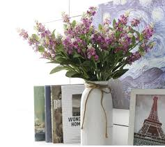 artificial flowers wholesale 20pcs simulation flower lavender home decoration artificial