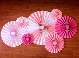 diy fans set of 7 large diy paper rosettes fans pretty in pink