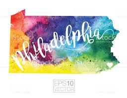 Philadelphia Pennsylvania Map by Philadelphia Pennsylvania Usa Vector Watercolor Map Stock Vector