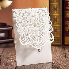 laser cut wedding programs exquisite laser cut white pocket wedding invitations ewws026 as