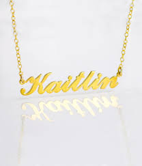 Custom Name Necklace Gold Personalized Name Necklace Kaitlin Nameplate Necklace Gold