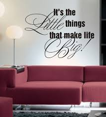 Wall Quotes For Living Room by It U0027s The Little Things Wall Art Sticker Quote Living Room