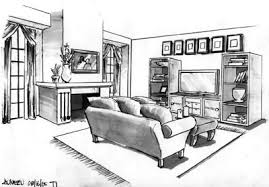 interior design sketches living room interior design