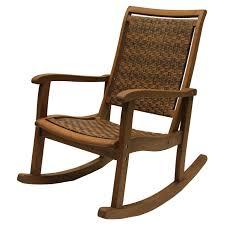 Outdoor Rocker Chair Outdoor Interiors Eucalyptus And Wicker Outdoor Rocker Chair