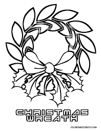 wreaths and candles coloring pages